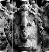 Fine Asianliving Kamerscherm Scheidingswand 4 Panelen Ganesha