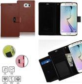 Mercury Rich Dairy wallet case hoesje Samsung Galaxy S6 bruin