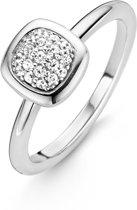 TI SENTO Milano Ring 12043ZI - maat 18,5 mm (58) - Zilver witgoudverguld