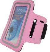 Tunturi Sport Telefoonarmband - Sportarmband - Hardloop armband - Smartphone armband - Roze