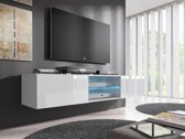 Meubella - TV Meubel Glow - Wit - 160 cm
