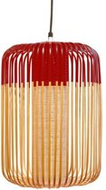 Forestier Bamboo Light Hanglamp Large Rood