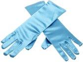 Elsa en Anna handschoenen blauw bij verkleed Prinsessen jurk