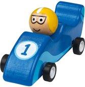 Moses Houten Racewagen 11,5 Cm Blauw