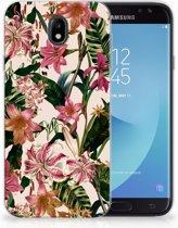 Samsung Galaxy J7 2017   J7 Pro TPU siliconen Hoesje Flowers