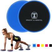 2 Professionele Sliding Discs | Met gratis E-book 'Hoe moet ik trainen & oefeningen' | Ab Trainer | Full Body | Core Trainer | Buikspieren Trainen | Sliding Pads | Afvallen Door Meer Spiermassa