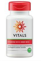 Vitals Vitamine B12 2000 mcg - 100 zuigtabletten - Voedingssupplement