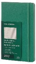 Moleskine Agenda 2017 12 Months Planner Weekly Notebook Large Malachite Green Hard Cover