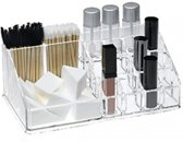 RRJ Beauty Make-Up Organizer - 20 x 8 x 12,5 cm - Hoogwaardig Acryl - Make-Up Rekje voor Lippenstift, Brushes, Nagellak, Oogpotlood,