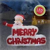 MERRY XMAS - Opblaasbaar - LED Verlichting - 180 cm