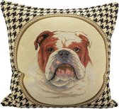 Mars & More Engelse Bulldog - Sierkussen - 45x45 cm - Multicolour