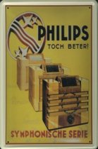 Philips Radio reclame Symphonische Serie reclamebord 10x15 cm