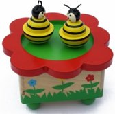 Afbeelding van Playwood - Houten muziekdoos dansende bijen speelgoed