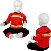 Fun2Wear Brandweer Pyjama Rood Nieuw uniform maat 104