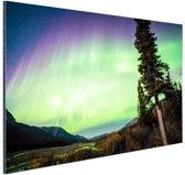 Noorderlicht foto afdruk Aluminium 90x60 cm - Foto print op Aluminium (metaal wanddecoratie)