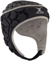 Gilbert scrumcap/ headguard Falcon 200 Black/Silver maat Medium boy 52.5 cm