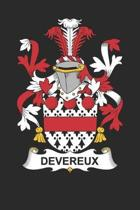 Devereux: Devereux Coat of Arms and Family Crest Notebook Journal (6 x 9 - 100 pages)