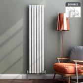 Dubbele Designradiator Verticaal Ember Ovaal Hoogglans Wit - 160 x 36 cm