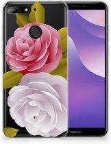 Huawei Y6 (2018) Uniek TPU Hoesje Roses