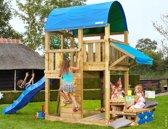 Jungle Gym - Farm Mini Picnic 160 - Houten Speelset voor Buiten - Met Glijbaan - Blauw
