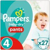 Pampers Baby-Dry Pants Luierbroekjes - Maat 4 (Maxi) 8-15 kg - 27 Stuks - Luiers