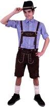 Boeren Tirol & Oktoberfest Kostuum | Lederhosen Kniebroek Schnapps Man | Maat 58 | Bierfeest | Verkleedkleding