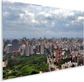 Broeierige lucht boven Porto Alegre in Brazilië Plexiglas 180x120 cm - Foto print op Glas (Plexiglas wanddecoratie) XXL / Groot formaat!
