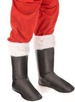 Zwarte kerstman overlaarzen voor volwassenen  - Verkleedattribuut - One size