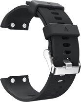 Siliconen Horloge Band Voor Garmin Forerunner 30 - Armband / Polsband / Strap Bandje / Sportband - Zwart