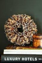 Rivièra Maison Romantic Winter Wreath Krans 24 cm Bruin