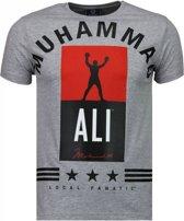 Local Fanatic Muhammad Ali Stars - T-shirt - Grijs - Maat: XL