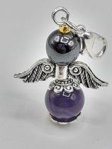 Amethist & Hematiet engeltje Bescherming en helderheid
