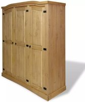 vidaXL Kledingkast Mexicaans grenenhout Corona-stijl 3 deuren