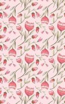 Salmon Colored Flowers - Blank Notebook - 5