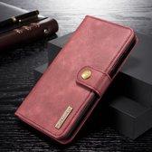 Huawei P Smart (2019) Leren 2-in-1 Bookcase en Back Cover Hoesje Rood
