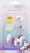 American Crafts - Hello Dreamer Embellishment - Shaped Erasers (6 stuks)