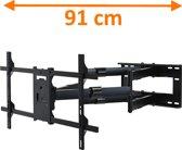 DQ Reach XXL 91 - Kantelbare en draaibare muurbeugel - Geschikt voor tv's van 42 t/m 80 inch - Zwart