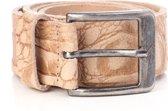 Tannery Leather Croco Herenriem Leer - Beige - 85 cm
