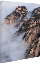 FotoCadeau.nl - Mist in de bergen Canvas 120x180 cm - Foto print op Canvas schilderij (Wanddecoratie)