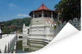Foto van de Tempel van de Tand in Sri Lanka Poster 180x120 cm - Foto print op Poster (wanddecoratie woonkamer / slaapkamer) XXL / Groot formaat!