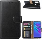 Huawei Y6 2019 - Bookcase Zwart - portemonee hoesje