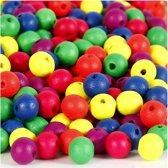 Neonmix, d: 10 mm, kleuren assorti, 500 gr, circa 1500