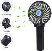 Mini ventilator oplaadbaar - Hand ventilator - Reizen - Kantoor - Zwart