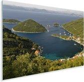 De bossen in het Nationaal park Mljet in Kroatië Plexiglas 180x120 cm - Foto print op Glas (Plexiglas wanddecoratie) XXL / Groot formaat!