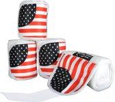 Polarfleecebandages -Flags- Set van 4 Vlag USA 300 cm