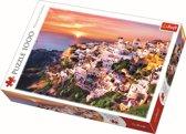 Zonsondergang bij Santorini, 1000 stukjes Puzzel
