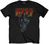 KISS - Neon Band heren unisex T-shirt zwart - XL