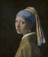 Fotobehang - Vermeer - Meisje met de parel - breed 212 cm x hoog 250 cm. Vliesbehang 150 grams A-Kwaliteit. Art. F055.01