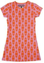 Happy Nr. 1-jurk, zomerjurk-kleur: oranje, roze-maat 140