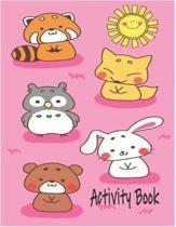 Activity Book: Premium Children's Animals Activity Book for Ages 3 and Up - Learn Achieve Grow Nature Series